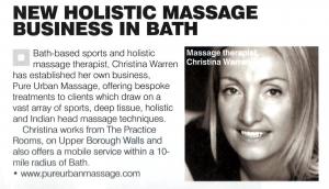 Pure Urban Massage: Bath Life editorial 11 February 2011